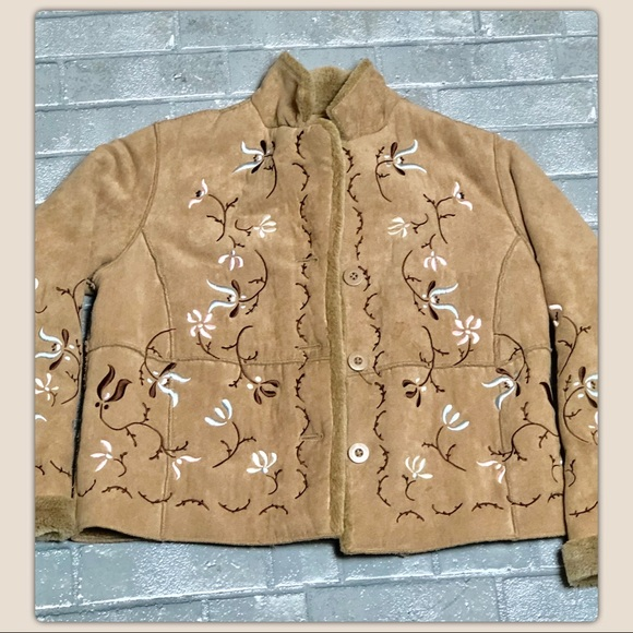 Relativity Jackets & Blazers - (Relativity) Suede Embroidered Jacket